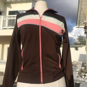 Jackets & Blazers - Ladies Brown zip up track jacket with sidepockets